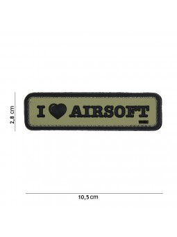 PATCH 3D PVC I LOVE AIRSOFT