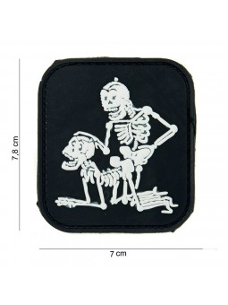 PATCH 3D PVC TWO SKELETONS