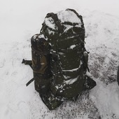 Tasmanian Tiger Range Pack MK. II počas víkendového pochodu :) #ironlegion #tasmaniantiger #rangepack #military #outdoor #gear #backpack #winter #snow #frozen